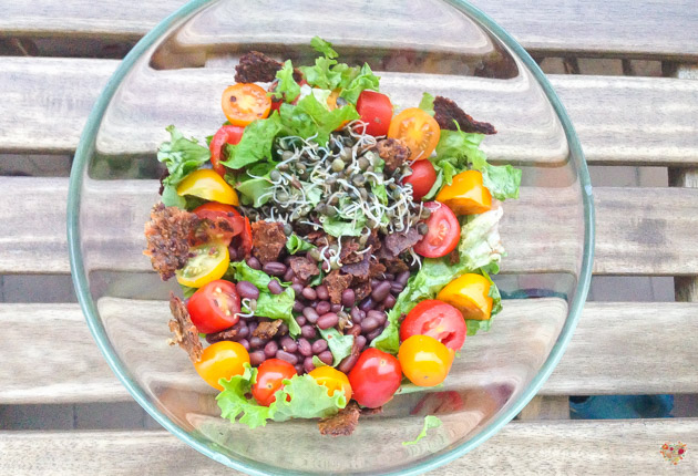 ensalada con porotos azuki tomates cherry y germinados de lenteja receta alma verde