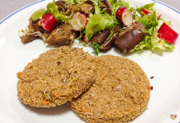 hamburguesas de mijo y zanahoria sin gluten comidas alma verde