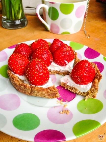 tarta de fresas frutillas vegana recetas alma verde blog
