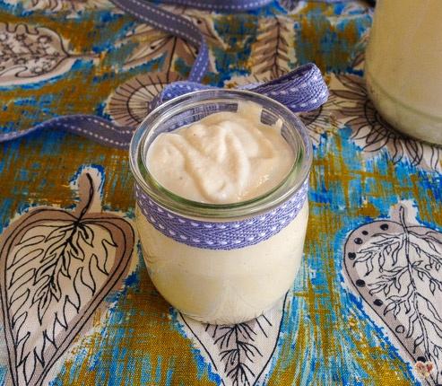 yogur fermentado de anacardos castanas de caju con rejuvelac vegano
