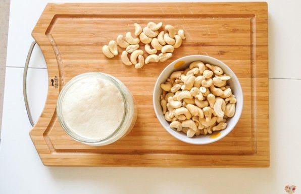 yogur fermentado de anacardos con probioticos receta vegana