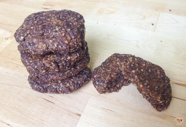 galletas veganas de mijo y algarroba sin gluten