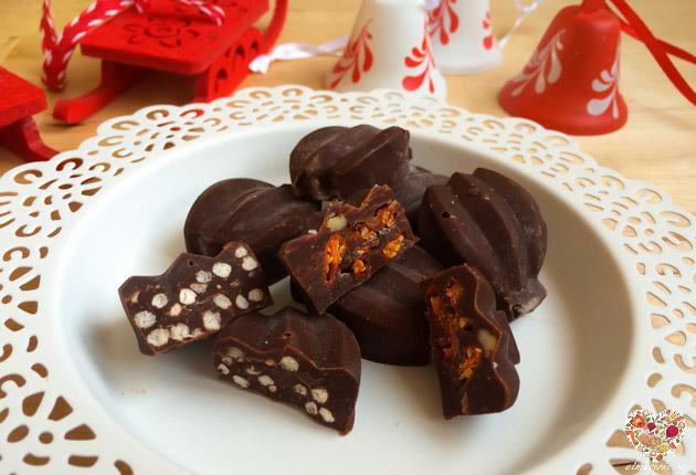 bombones de chocolate veganos