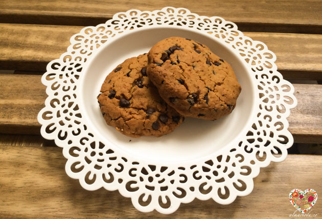 cookies con chips de chocolate veganas