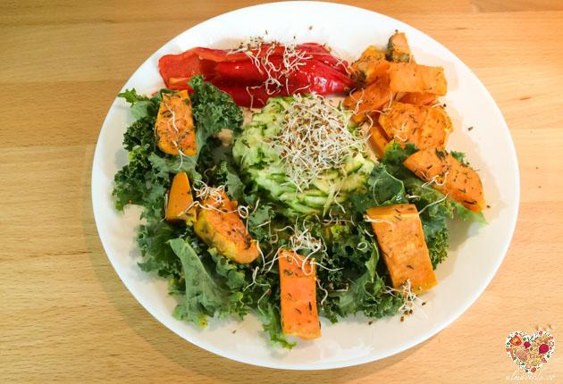 ensalada de kale
