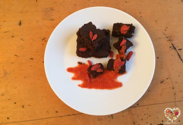 Brownie frijoles alubias receta sin gluten