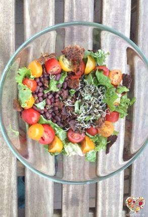 ensalada de frijoles fuente de proteina vegetal