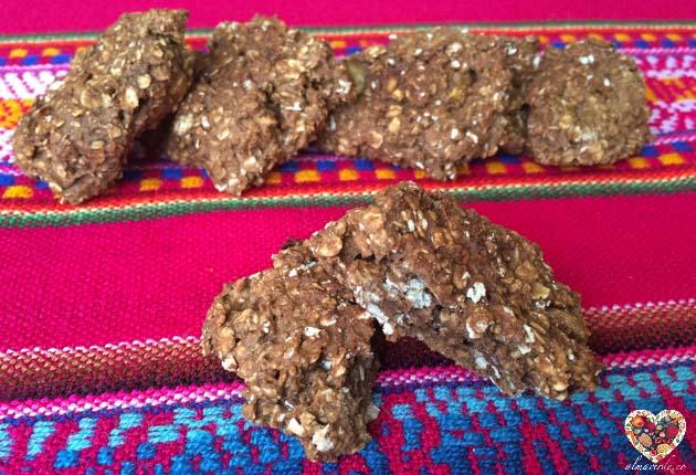 galletas de avena y alubias sin harina