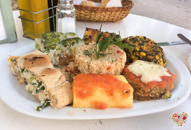 plato combinado vegetariano