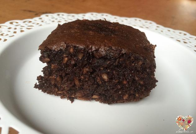 Brownie sin gluten con huevo