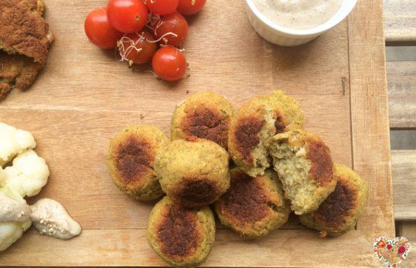 Falafel receta vegetariana con garbanzos