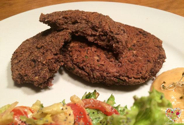 hamburguesas veganas y sin gluten a base de frijol