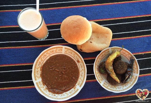 comer en egipto desayuno vegano