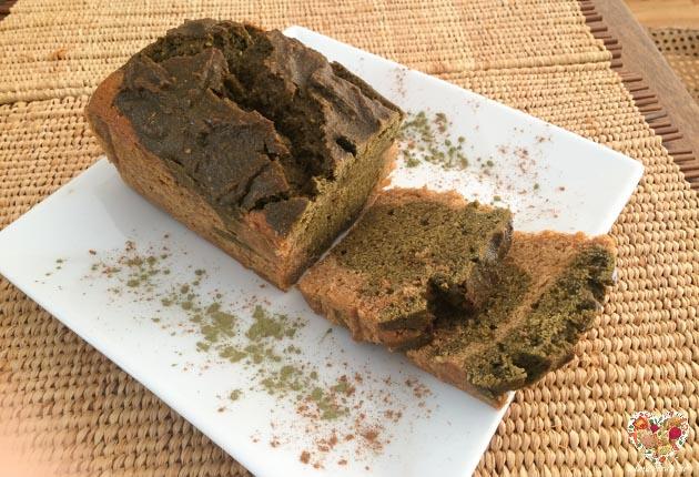 Cake vegano de té verde