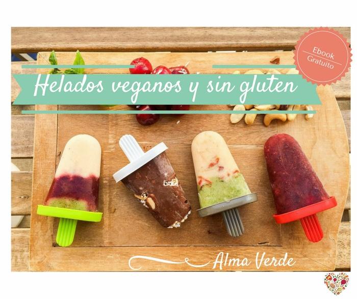 mejores recetas helados veganos sin gluten