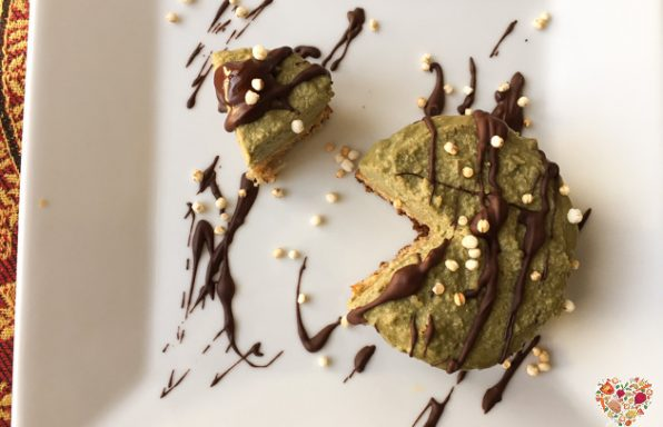 Cheescake de té verde matcha vegano