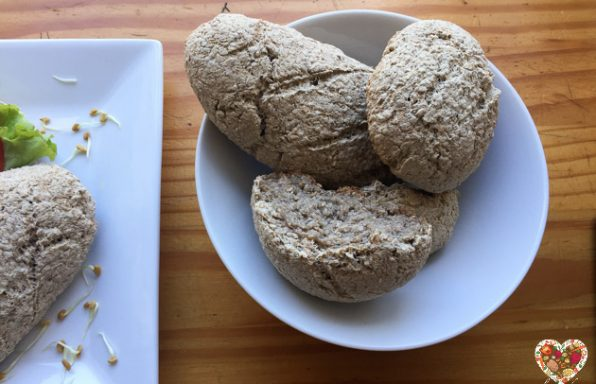 Pan sin gluten para sandwich vegano