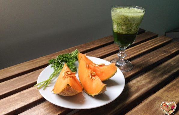 Receta de batido verde melón cilantro