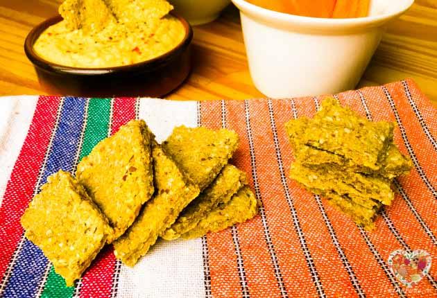 Galletas saladas con pulpa de leches vegetales, receta sin gluten