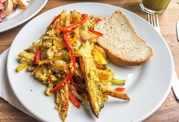 Comida orgánica en el restaurante Vita en Buenos Aires