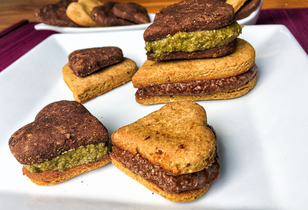 Galletas veganas de chocolate orgánicas sin gluten