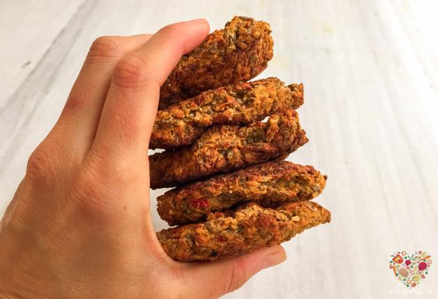 Hamburguesas de lentejas y vegetales veganas sin gluten