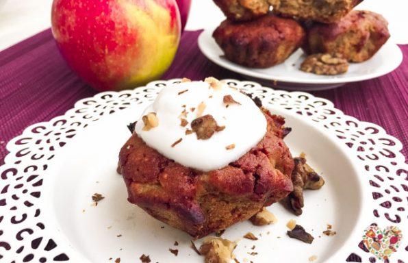 Muffins de manzana y canela veganos