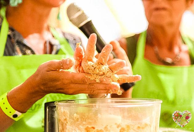 Taller de cocina vegana en el festival rototom sunsplash