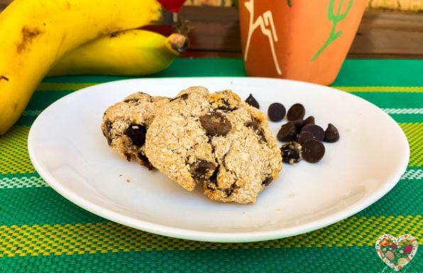 Galletas veganas de coco con chocolate sin azúcar