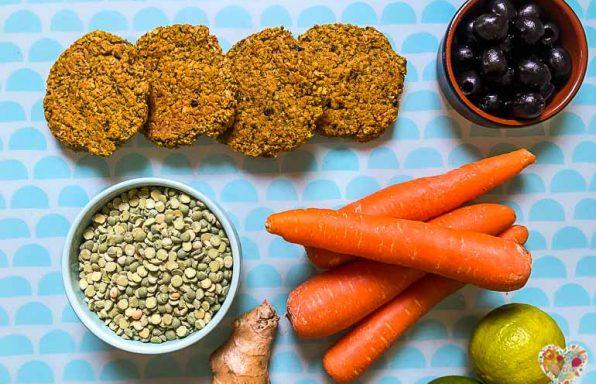 Hamburguesa vegana de guisantes y vegetales sin gluten