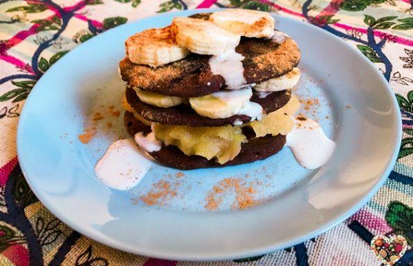 Pancakes veganos de chocolate